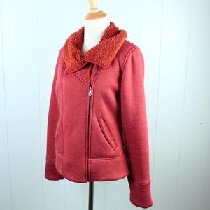 Prana Burnt Orange Fleece Jacket